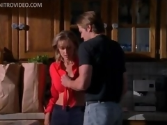Pretty Golden-haired MILF Mimi Cochran Receives Gangbanged In The Kitchen